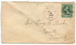 United States 1888 Cover Groton To Gaysville, Vermont W/ Scott 213 - 1847-99 Algemene Uitgaves