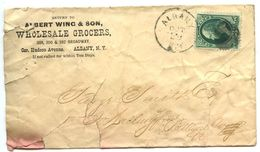United States 1870's Cover Albany, New York - Albert Wing & Son, Wholesale Grocers - 1847-99 Algemene Uitgaves