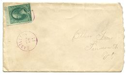 United States 1870's Cover Castleton To Tinmouth, Vermont - 1847-99 Algemene Uitgaves