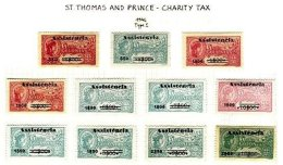 ST. THOMAS & PRINCE, Assistencia, PB 5/20 Disc., (*)/* MNG/MLH, F/VF, Cat. € 720 - Unused Stamps