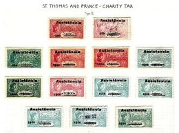 ST. THOMAS & PRINCE, Assistencia, PB 2/19 Disc., (*)/* MNG/MLH, F/VF, Cat. € 790 - Unused Stamps