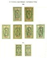 ST. THOMAS & PRINCE, Interest Tax, PB 1, 3/6, 8, 79, 85, (*) MNG, F/VF, Cat. € 38 - Unused Stamps