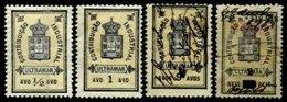 TIMOR, Industrial Tax, PB 76/77, 83, 174, */o M/U, F/VF, Cat. € 14 - Unused Stamps