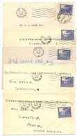 South Africa 1947-50 5 Covers  Cape Town & Pretoria To U.S. W/ Scott 57d/57e - South Africa (...-1961)
