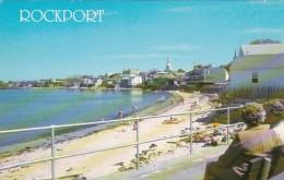 Maine Rockport Scene Along Front Beach