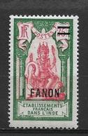 French India 1928,1fa On 25c,Sc 66,VF MLH*OG (FC-4) - India (1892-1954)
