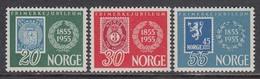 Norway 1954 - 100 Jahre Norwegische Briefmarken, Mi-Nr. 390/92, MNH** - Norvège