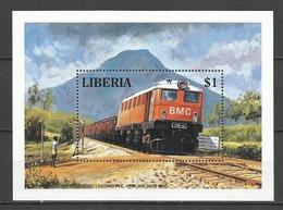 LSJP LIBERIA BMC LOCOMOTIVE RAIL TRANSPORT MNH - Liberia