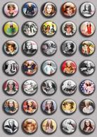 SHEILA Music Fan ART BADGE BUTTON PIN SET 2 (1inch/25mm Diameter) 35 DIFF - Music