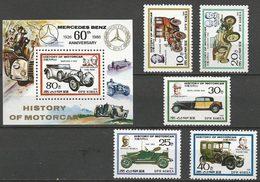 LSJP KOREA NORTH HISTORY OF THE CAR MERCEDES BENZ FIAT RENAULT 1986 - Corée Du Nord