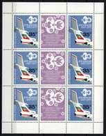 Bulgaria 1977. Aviation COMPLETE SHEET MNH (**) Michel: 2616 Klb. / 10 EUR - Ungebraucht
