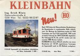 Catalogue KLEINBAHN 1987Neu ! ÖBB TURMWAGEN X 534.82  HO 1/87 - German