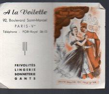 Paris Boulevard St Marcel : Calendrier 1953 A LA VOILETTE  (PPP13916) - Calendars