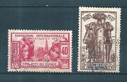 Colonies Francaise  Timbre Des Cote De Somalis De 1937  N°143/44 Oblitérés - Oblitérés