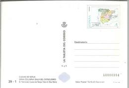 TARJETA DEL CORREO  1998 CUEVAS DE NERJA - 1931-....