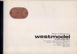 Catalogue WESTMODEL Kleinserien 1984  HO 1/87 Pinon & Bachmann - German
