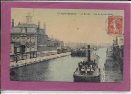 02.- SAINT-QUENTIN .- Le Canal  Vue Prise Du Pont ( Carte Tissée ) - Saint Quentin