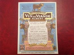 Laboratoires Aubery  Vin De Viande  Avignon - Publicités