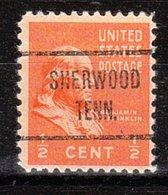 USA Precancel Vorausentwertung Preo, Locals Tennessee, Sherwood 724 - Vorausentwertungen