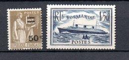 K France N° 298 + 299 ** Côte 43 Euros - Ungebraucht