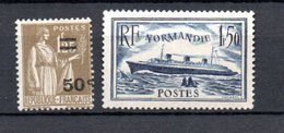 K France N° 298 + 299 ** Côte 43 Euros - Neufs