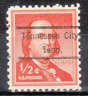 USA Precancel Vorausentwertung Preo, Locals Tennessee, Tennessee City 809 - Vorausentwertungen