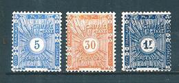 Colonies Francaise  Timbre Taxes Des Cote De Somalis De 1915  N°1 + 5 + 8 Neufs * - French Somali Coast (1894-1967)
