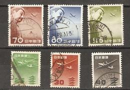 Japon 1951/ 1953 - Poste Aérienne - Petit Lot De 6 Timbres° - Avion - Bouddah - Poste Aérienne