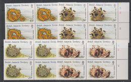 British Antarctic Territory (BAT) 1989 Lichens 4v Bl Of 4  ** Mnh (39488A) - Brits Antarctisch Territorium  (BAT)