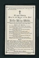 SOUVENIR MORTUAIRE (ANGLAIS) - DE NELLIE MARY WEBB (  °1890 +12/5/1912) - Décès