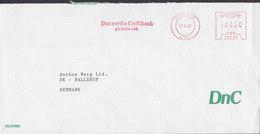 Norway DNC (DEN NORSKE CREDITBANK), SANDENES 1987 Meter Cover Freistempel Brief BALLERUP Denmark - Briefe U. Dokumente