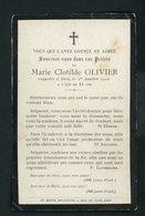 SOUVENIR MORTUAIRE  - DE MARIE CLOTILDE OLIVIER  (  °1896 +1/1/1910) - Décès