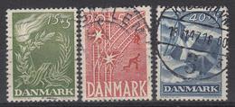 DENEMARKEN - Michel - 1947 - Nr 295/97 - Gest/Obl/Us - 1913-47 (Christian X)