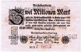 Zwei Millionen Mark 1923 Propaganda Wahlwerbung - [ 3] 1918-1933 : Weimar Republic