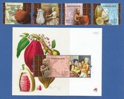Portugal 2018 , Chocolate - Satz + Block - Postfrisch / MNH / (**) - Unused Stamps