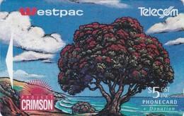 New Zealand, NZ-F-009, Westpac Project Crimson, Pohutukawa Tree, 2 Scans . - New Zealand