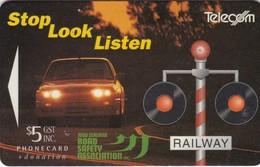 New Zealand, NZ-F-011, $5, Stop Look Listen, 2 Scans. - New Zealand