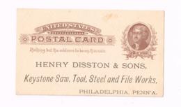 Entier Postal à 1 Cent. Keystone Saw,Philadelphia - Ganzsachen