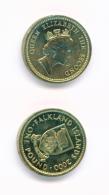 FALKLAND ISLANDS  -  2000  £1  UNC Coin - Falkland Islands