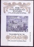 Poland 1999 Mi Bl.136B Imperforate Slania Architecture Ksiaz Castle Furstenstein Philatelic Exhibition MNH** W154 - Castles