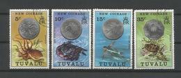 Tuvalu 1976 New Coins & Fauna Y.T. 19/22 (0) - Tuvalu
