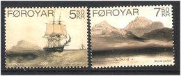 Faroe 2007 Old Lithographs By Barthélemy Lauvergne (1805-1871), French Painter, Ship Mi 596-597 MNH(**) - Féroé (Iles)