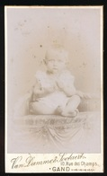 GENT = PHOTO VAN DAMME FRERES - RUE DES CHAMPS  - ADEL , ANNE MARIE CARDON DE LICHTBUER - 2 SCANS - Autres