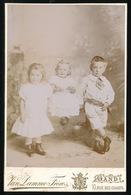 GENT = PHOTO VAN DAMME FRERES - RUE DES CHAMPS  - ADEL , GHISLAIN,ANNE EN IRENE  CARDON DE LICHTBUER - 2 SCANS - Photos