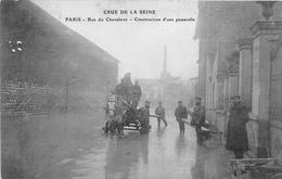 ¤¤  -  PARIS  -  Crue De La Seine  -  Rue Du Chevaleret  -  Construction D'une Passerelle  -  Inondation   -  ¤¤ - Arrondissement: 16