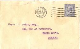 Grande Bretagne 1927/31  - 2 Enveloppes De Hull Et Southbank/Yorkshire à France - Lettres & Documents
