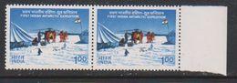 India 1983 1st Antarctic Expedition 1v (pair) ** Mnh (39490B) - India