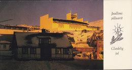 Greenland PPC Juullimi Pilluarit Glædelig Jul Gammelt Hus - Ny Kirke Qaqortoq JULIANEHÅB 1980 Cz. Slania Stamp (2 Scans) - Grönland