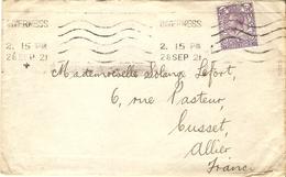 Grande Bretagne 1921/22  - 2 Enveloppes De Inverness/Ecosse à Cusset/France - 1922 Reroutée - Lettres & Documents