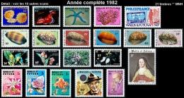 WALLIS ET FUTUNA Année Complète 1982 - Yv. 281 à 301 ** MNH  - 21 Timbres  ..Réf.W&F22004 - Wallis And Futuna